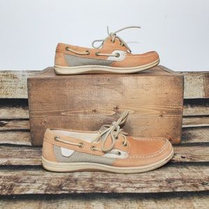 Sperry Top Sider Tan Slip On Shoes Size 5.5M